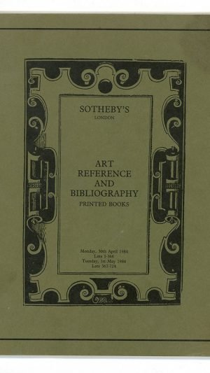 Art Reference and Bibliography. Printed Books. Monday 30th April 1984