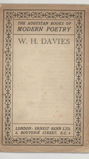 The Augustan Books of Modern Poetry: W. H. Davies