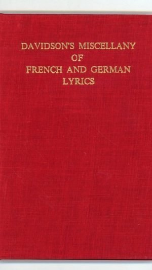 Davidson's Miscellany of French and German Lyrics