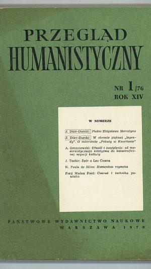 Przeglad Humanistyczny NR1/76 ROK XIV