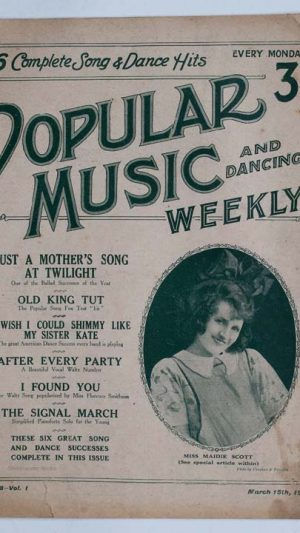 Popular Music and Dancing Weekly No.8 Vol.1 March 15 1924