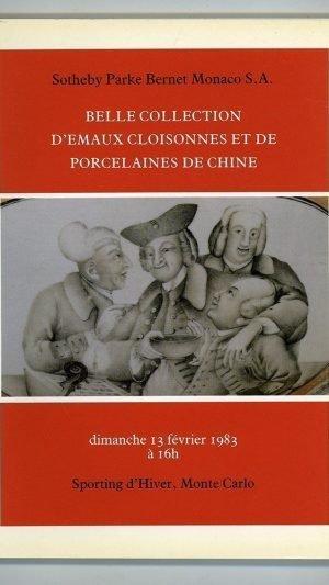 Belle Collection d'Emaux Cloisonnes et de Porcelaines de Chine.