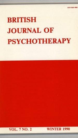British Journal of Psychotherapy Volume 7 No.2 Winter 1990