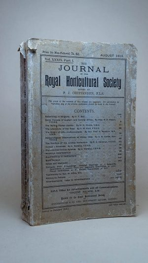 The Journal of the Royal Horticultural Society 1913 Vol. XXXIX Part 1. August